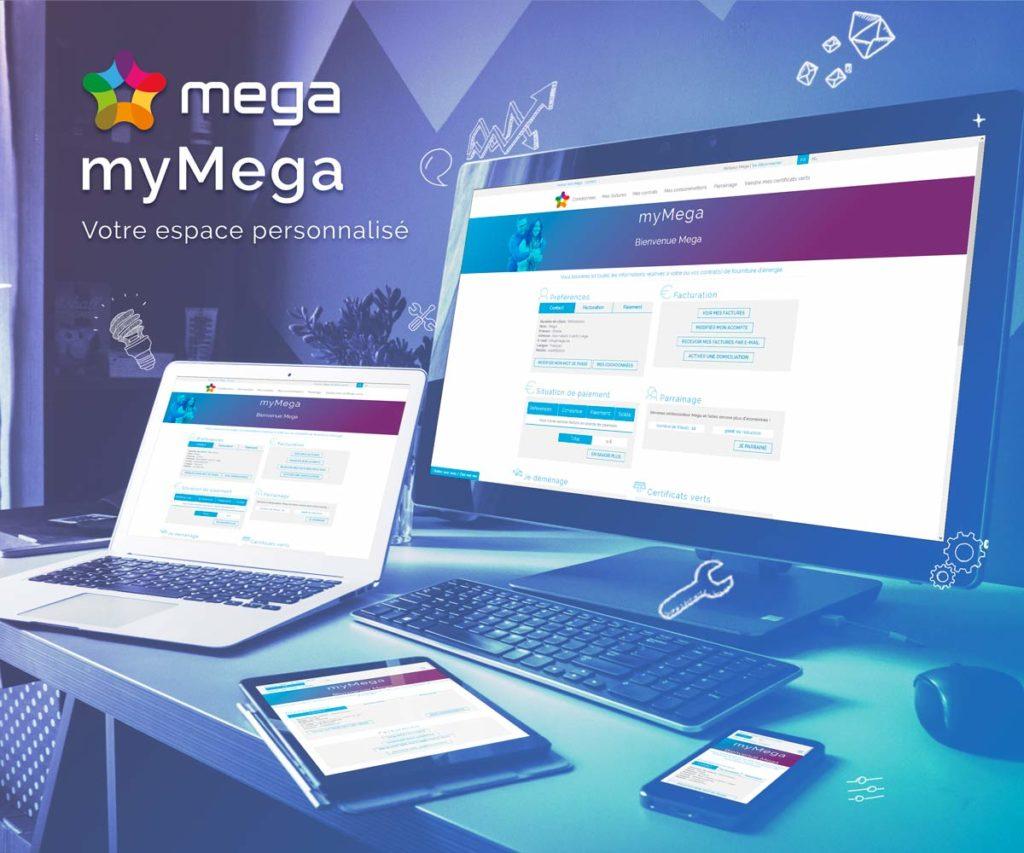 Gérez votre énergie en ligne grâce à votre espace client myMega !