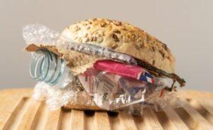 plastic burger